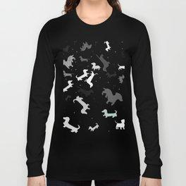 dachshund dog constellation Long Sleeve T-shirt