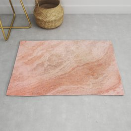 Polished Rose Gold Marble Rug