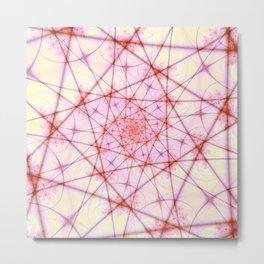 Neural Network Spiral Metal Print