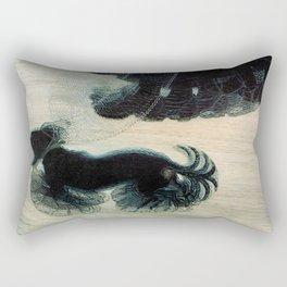 Dog on a Leash Rectangular Pillow