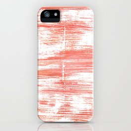 Light salmon pink abstract watercolor iPhone Case