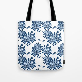 Blue abstract flowers . 2 Tote Bag