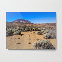 Trail in the Teide National Park, Tenerife Metal Print