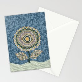 Fabby Flower-Mineral colors Stationery Cards