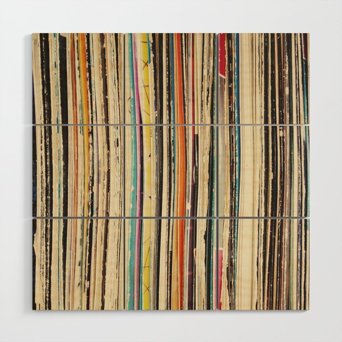 Record Collection Wood Wall Art