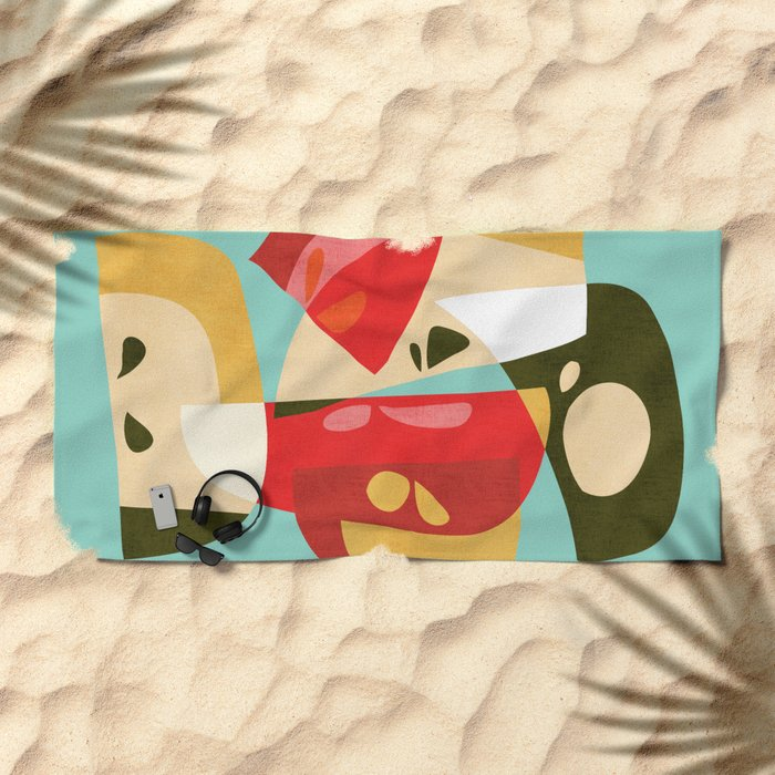 Apple Slices Beach Towel