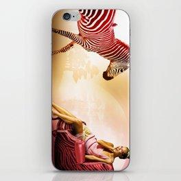 Red Zebra iPhone Skin
