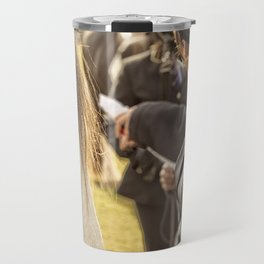 Horse and rider at Agriculture show Australia. Travel Mug