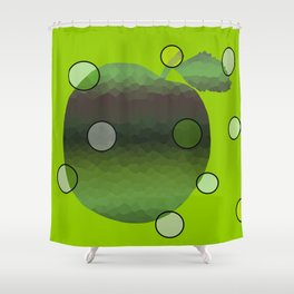 Contemporary Apple Shower Curtain