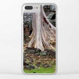 Ta Prohm Temple Ruins In Cambodia Clear iPhone Case