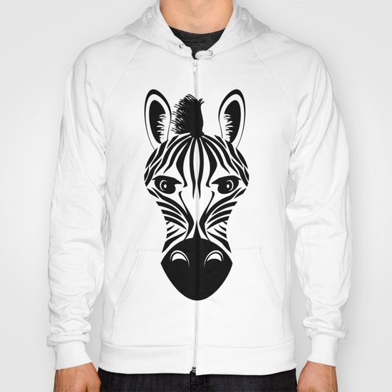 Black and White Zebra Pattern Hoody