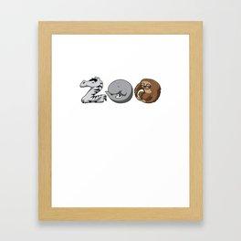 Zoo Keeper Zoologist Kids Animal Alphabet Gift Framed Art Print