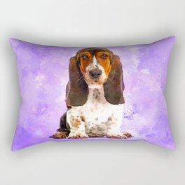 Basset Hound Puppy Rectangular Pillow