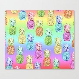 Pineapple Rainbow Canvas Print