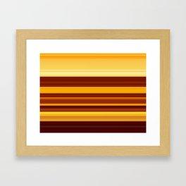 Golden Lava Framed Art Print