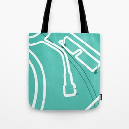 Neon Turntable 3 - 3D Art Tote Bag