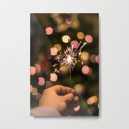 Sparkler (Color) Metal Print