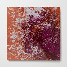 Bonoma - Abstract Colorful Decorative Bohemian Tie-Dye Style Art Metal Print