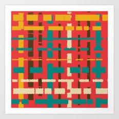 Colorful line segments Art Print