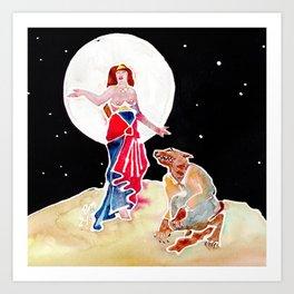 Goddess Circe & Her Beast Art Print