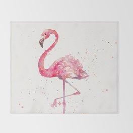 A Flamingos Fancy Throw Blanket