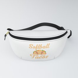 Cute Softball and Tacos Novelty Soft Ball Player Fanny Pack