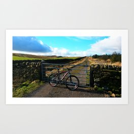 WHEELS AND HILLS Art Print