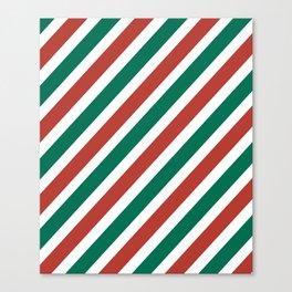 Holiday Stripes Canvas Print