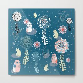 baby animals' reunion Metal Print