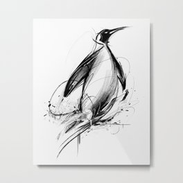 Pingüino Metal Print