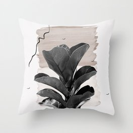 Fiddle Leaf Abstract - Naturelle #2 #minimal #wall #decor #art #society6 Throw Pillow