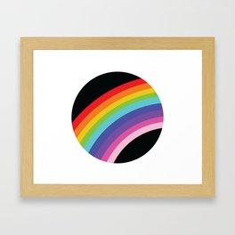 Circular Rainbow Framed Art Print