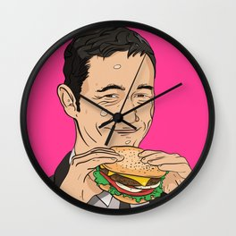 Joseph Gordon Levitt With Hamburger Wall Clock
