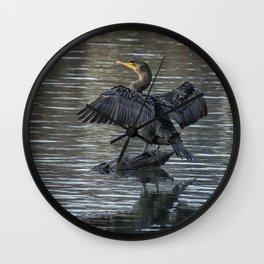 Double-Crested Cormorant Portrait Wall Clock