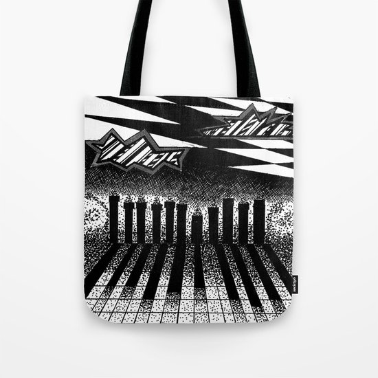 descending of night at the factory Tote Bag