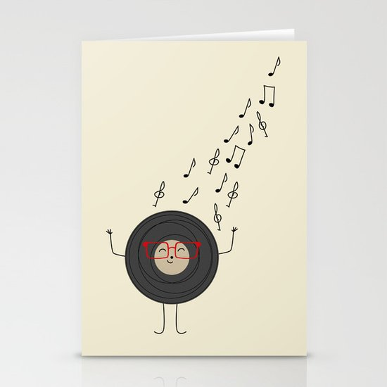 THEODORE THE VINYL Stationery Cards