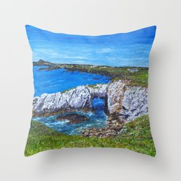 Gromllech Rock Arch Throw Pillow