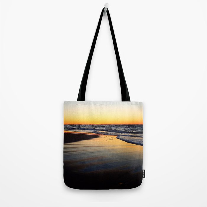 Beach after the Wave at Sunset Tote Bag