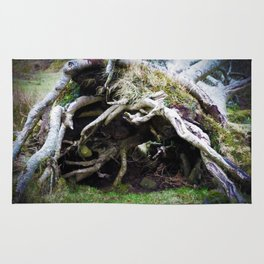 The enchanted fallen tree Rug