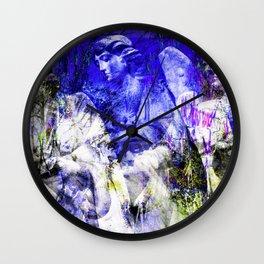 Blue Symphony of Angels Wall Clock