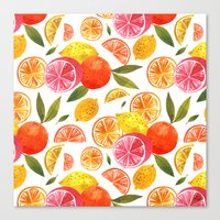 oana befort Canvas Prints featuring CITRUS by Oana Befort