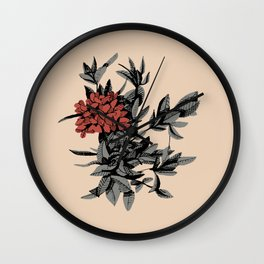Floral Thyme Wall Clock