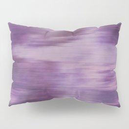 Purple Fusion Illustration Digital Camo Watercolor Blend Fluid Art Pillow Sham