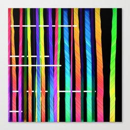 graphic birch wood BLACK Canvas Print
