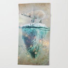 Polar Bear Adrift Beach Towel