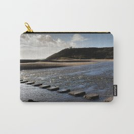 Three Cliffs Bay stepping stones Carry-All Pouch
