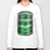 matrix Long Sleeve T-shirts featuring Matrix tower by Azimut