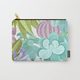 Tropical Cactus Pattern Carry-All Pouch