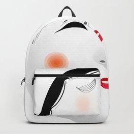 Japanese Mask - Okame Backpack