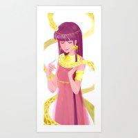 Golden Snakes  Art Print